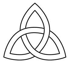 Keltische knoop als beeld van de drie-eenheid.